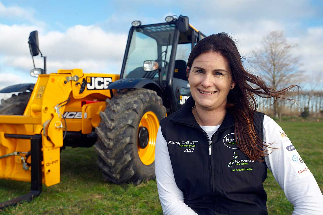 Massey alumna named Young Fruit Grower of the Year