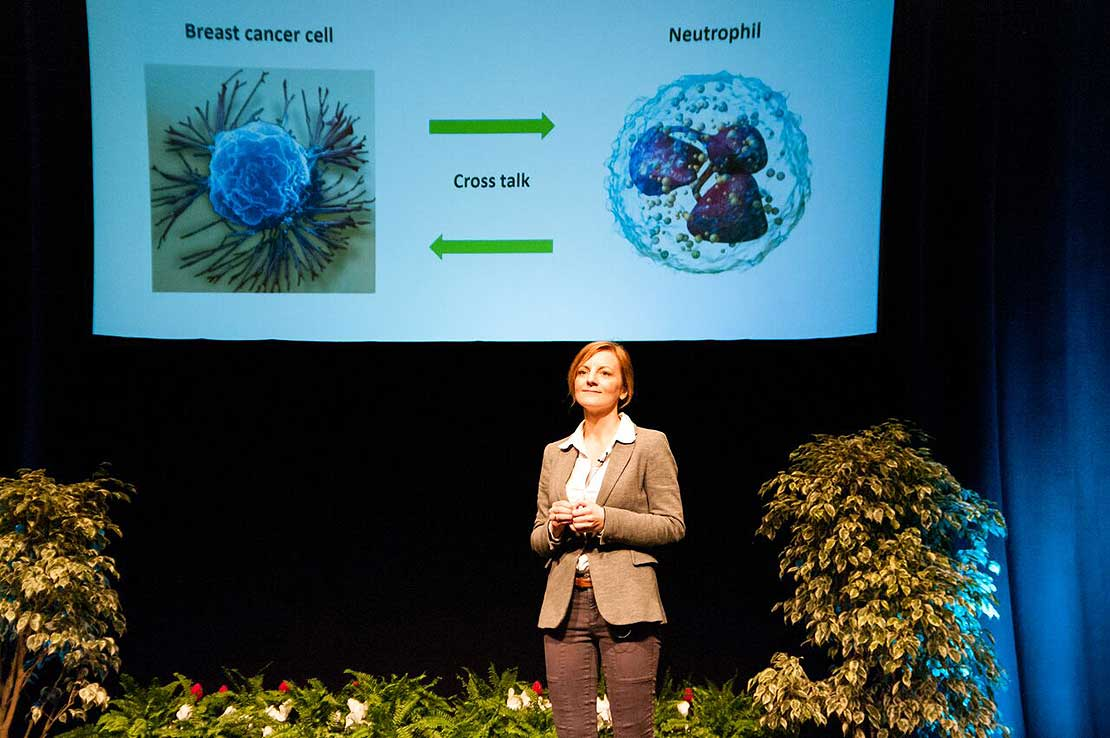 Breast cancer PhD research wins Massey 3MT